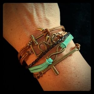 Jewelry - Anchor Cross Infinity Love bracelet